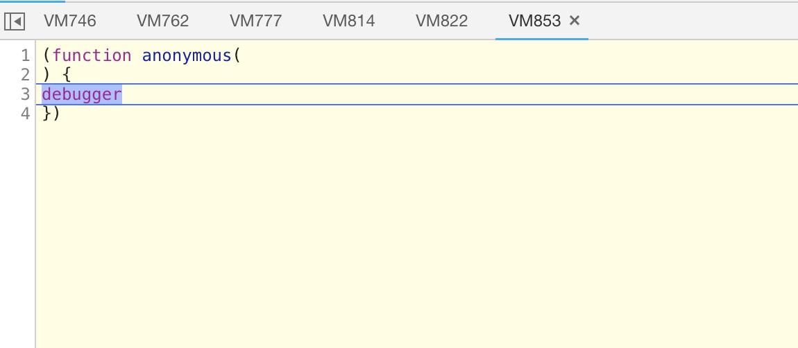 JS控制台永远Debuger状态
