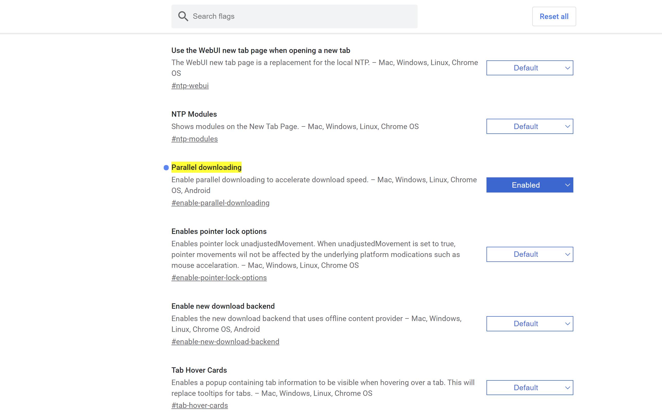 谷歌浏览器开启多线程下载